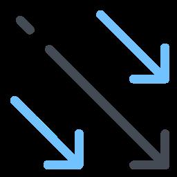 Diagonal Arrows Down icon
