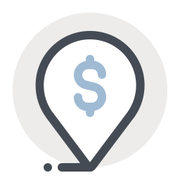 Dollar Place Marker icon