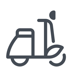 Empty Delivery Scooter icon