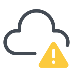 Cloud With Error Sign icon