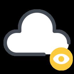 cloud privacy icon