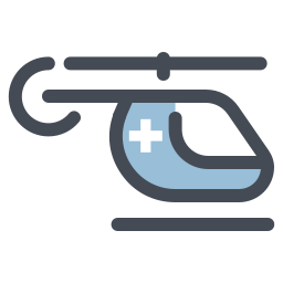 hospital helicopter icon