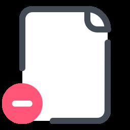 Eliminar archivo icon