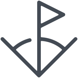 Flagge in der Ecke icon