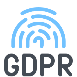 Huella digital GDPR icon
