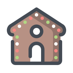 Christmas desert icon