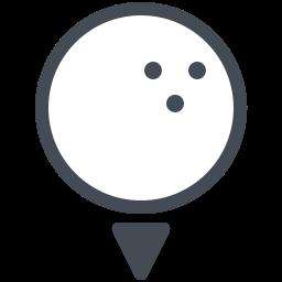 Pelota de golf Filled icon