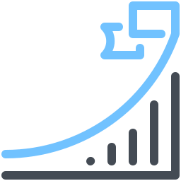 Growth And Flag icon