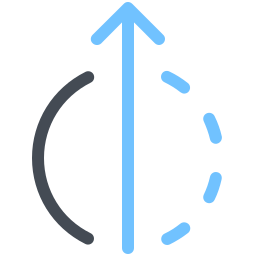 Half Orbit Arrow icon