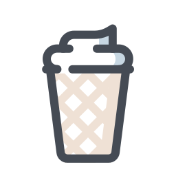 Ice Cream in Waffle icon