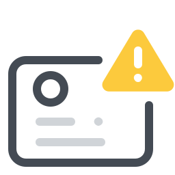 Identification Documents Error icon