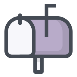 Mailbox Closed Flag Up icon