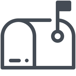 Mailbox Opened Flag Up icon