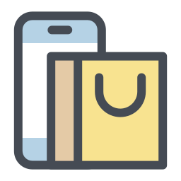 Mobile Shopping Cart icon