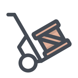 Trolley With Boxes icon