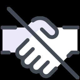No Handshake icon