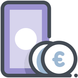 Notes and Coins Euro icon