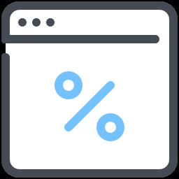 Browser Discounts Interest Marketing Network Optimization Web icon