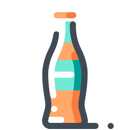 Orange Soda Bottle icon