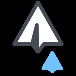 Mensajes de avión de papel icon