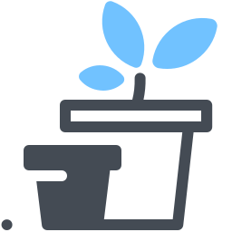 Flower Pot Outline icon