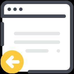 Previous Webpage icon
