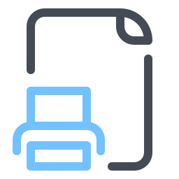 Stampa file icon
