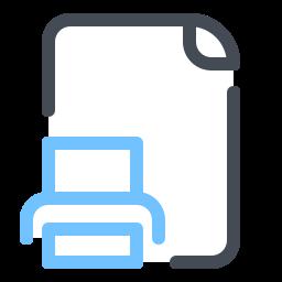 Распечатать файл icon