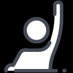举手回答 icon