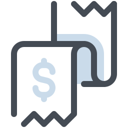 Receipt Dollar icon