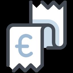 Receipt Euro icon