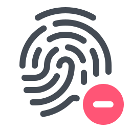 Remove Fingerprint icon