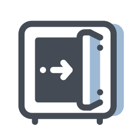 Meter en caja fuerte icon