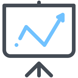 Increasing Graph icon