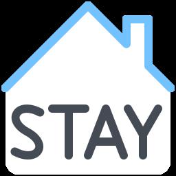 Знак оставайтесь дома icon
