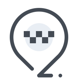 taxi rank-map-pin icon