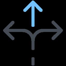 Three Way Direction icon