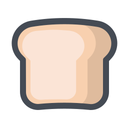 Slice of Bread Outline icon