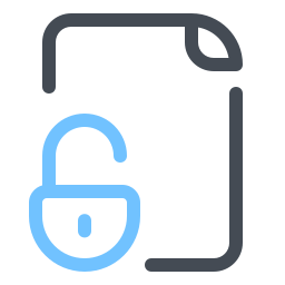 Unlocked File icon