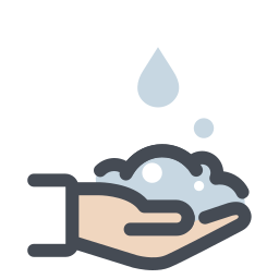 Drops Falling on Hands icon