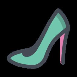Damenschuh in Seitenansicht icon