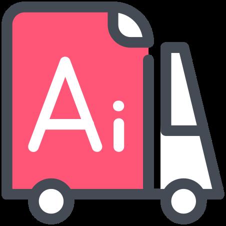 Adobe Illustrator Delivery icon in Pastel