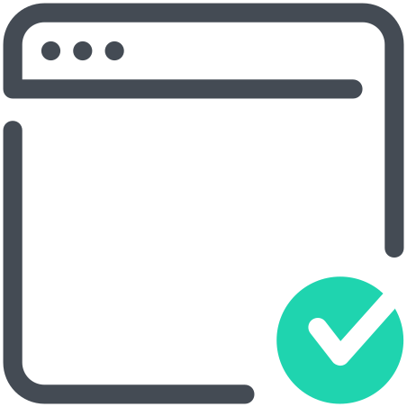 Approved Webpage icon