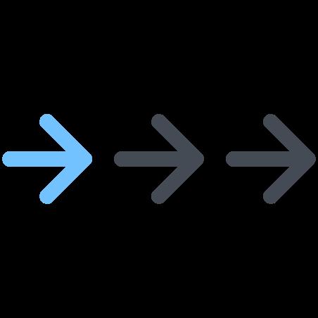 Arrows Follow Right icon