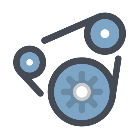 Automotive Generator icon in Pastel