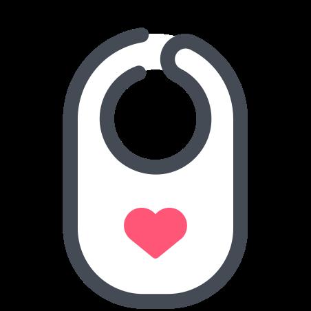 Bib icon in Pastel