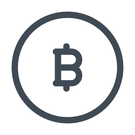 Bitcoin icon in Pastel