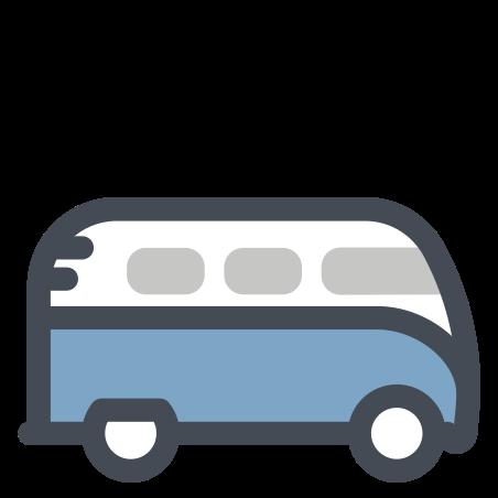 버스 icon in 파스텔