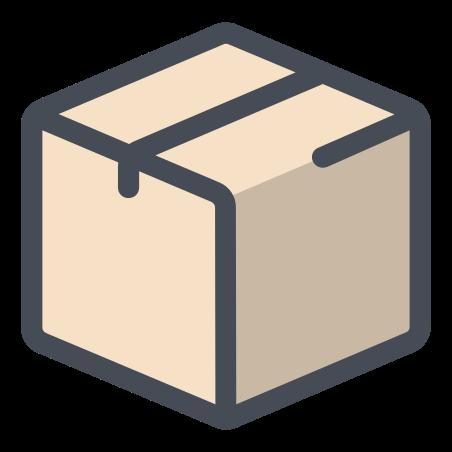 골판지 상자 icon in 파스텔
