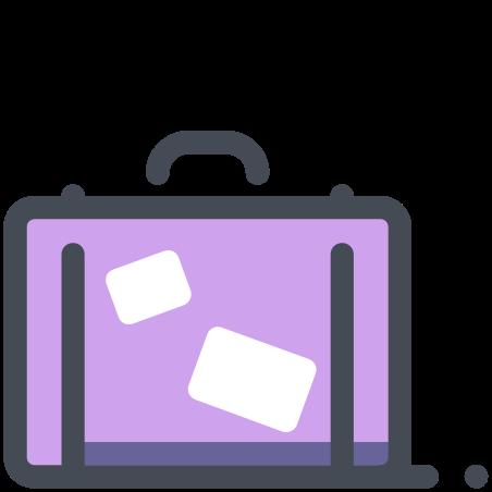 기내 반입 수하물 icon in 파스텔